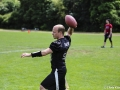 Quarterback wirft Ball